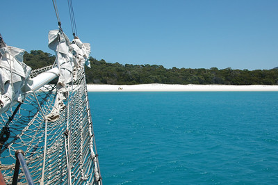 View from the Solway Lass, Whitehaven Beach, Whitsundays