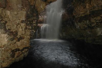 Waterfall at Smoo Cave