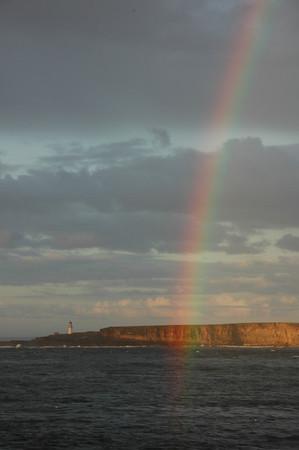 Rainbow over the North Sea & Lighthouse